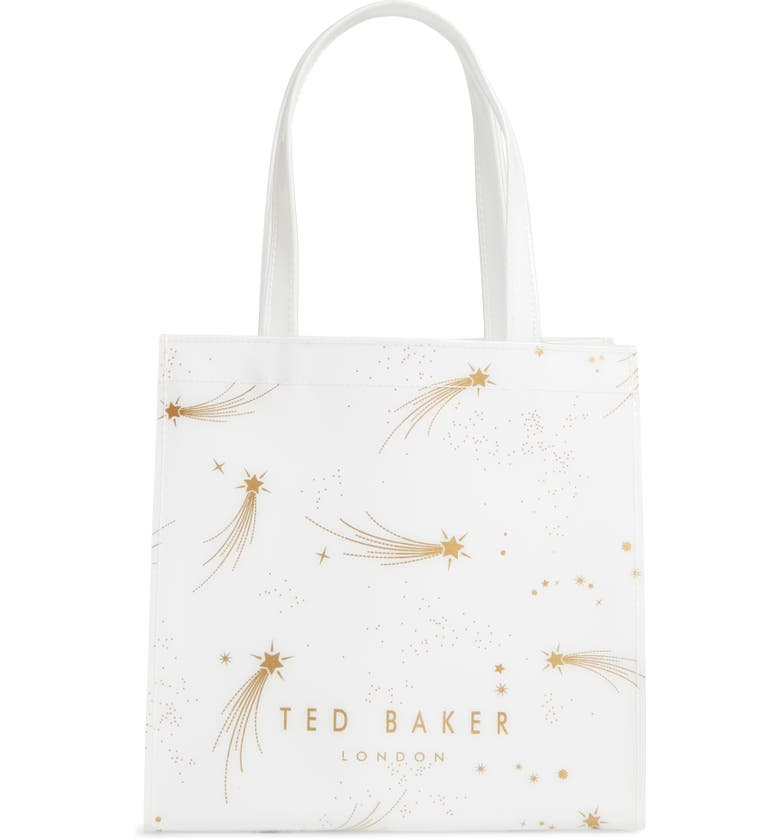 TED BAKER LONDON Small Orricon Shooting Star Shoulder Bag, Main, color, IVORY