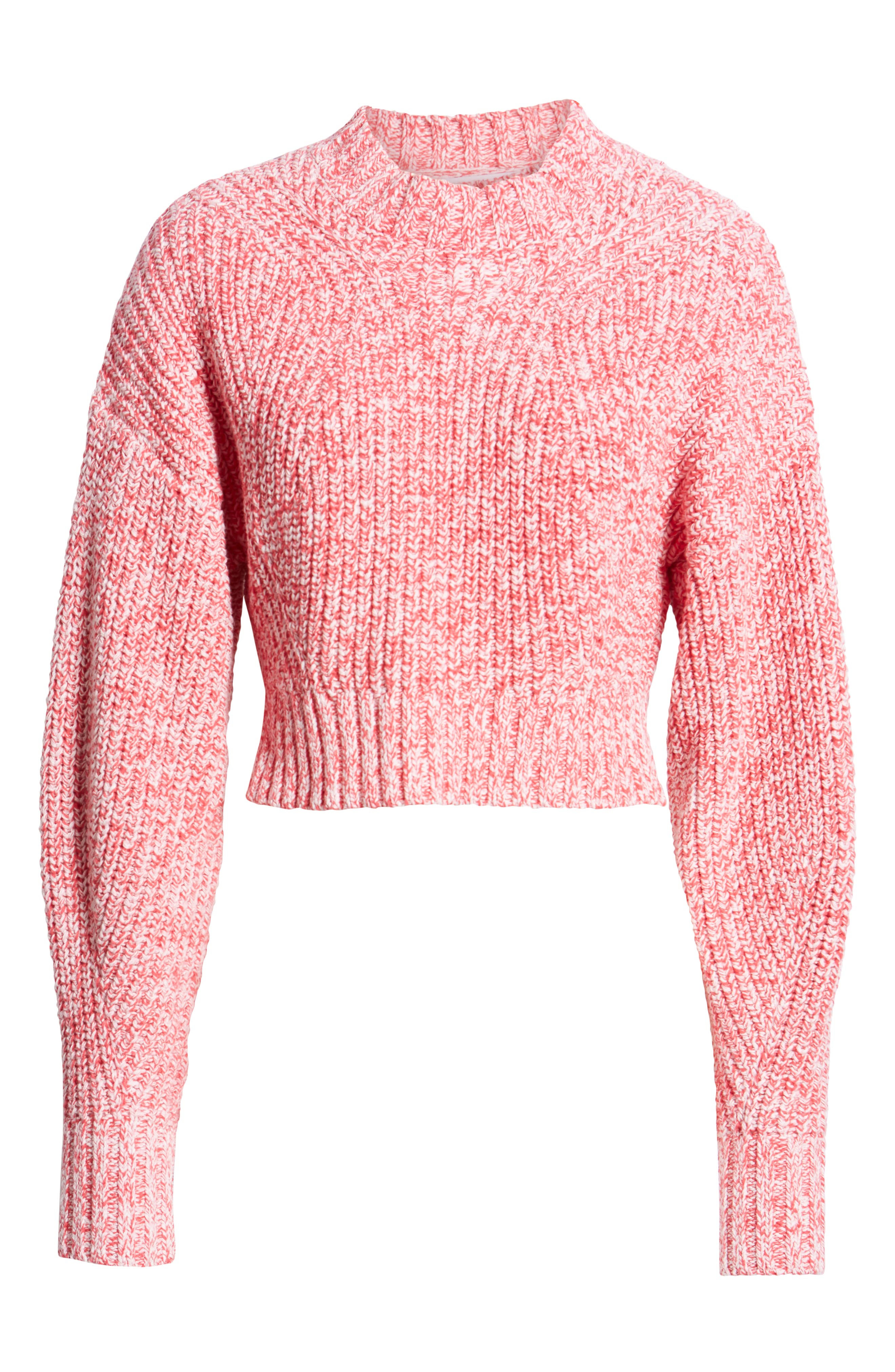 ,                             Blouson Sleeve Sweater,                             Alternate thumbnail 6, color,                             PINK MELANGE