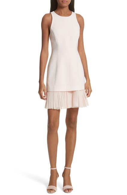 Image of Cinq a Sept Catronia Pleated Sheath Dress