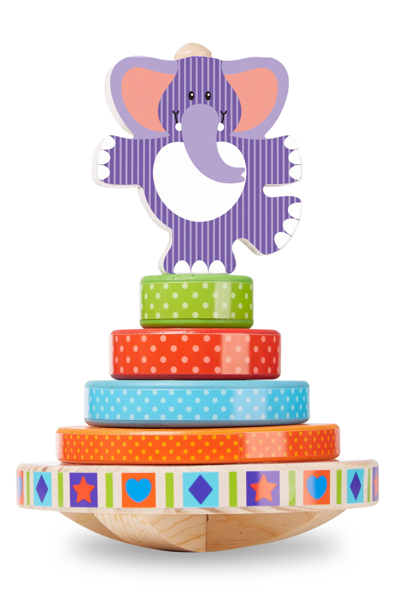 ,                             First Play Elephant Rocking Stacker,                             Alternate thumbnail 4, color,                             MULTICOLORED