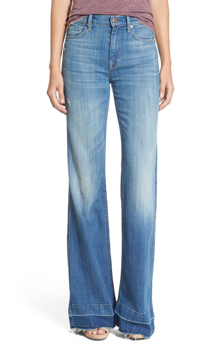 7 FOR ALL MANKIND<SUP>®</SUP> 'Ginger' Released Hem Flare Jeans, Main, color, 402