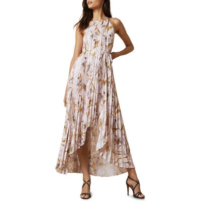 Ted Baker London Dixie Cabana Pleated Maxi Dress, Pink