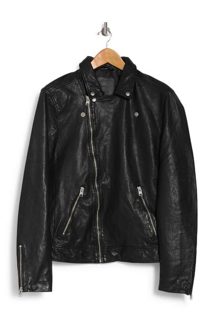 Image of ALLSAINTS Omni Leather Biker Jacket