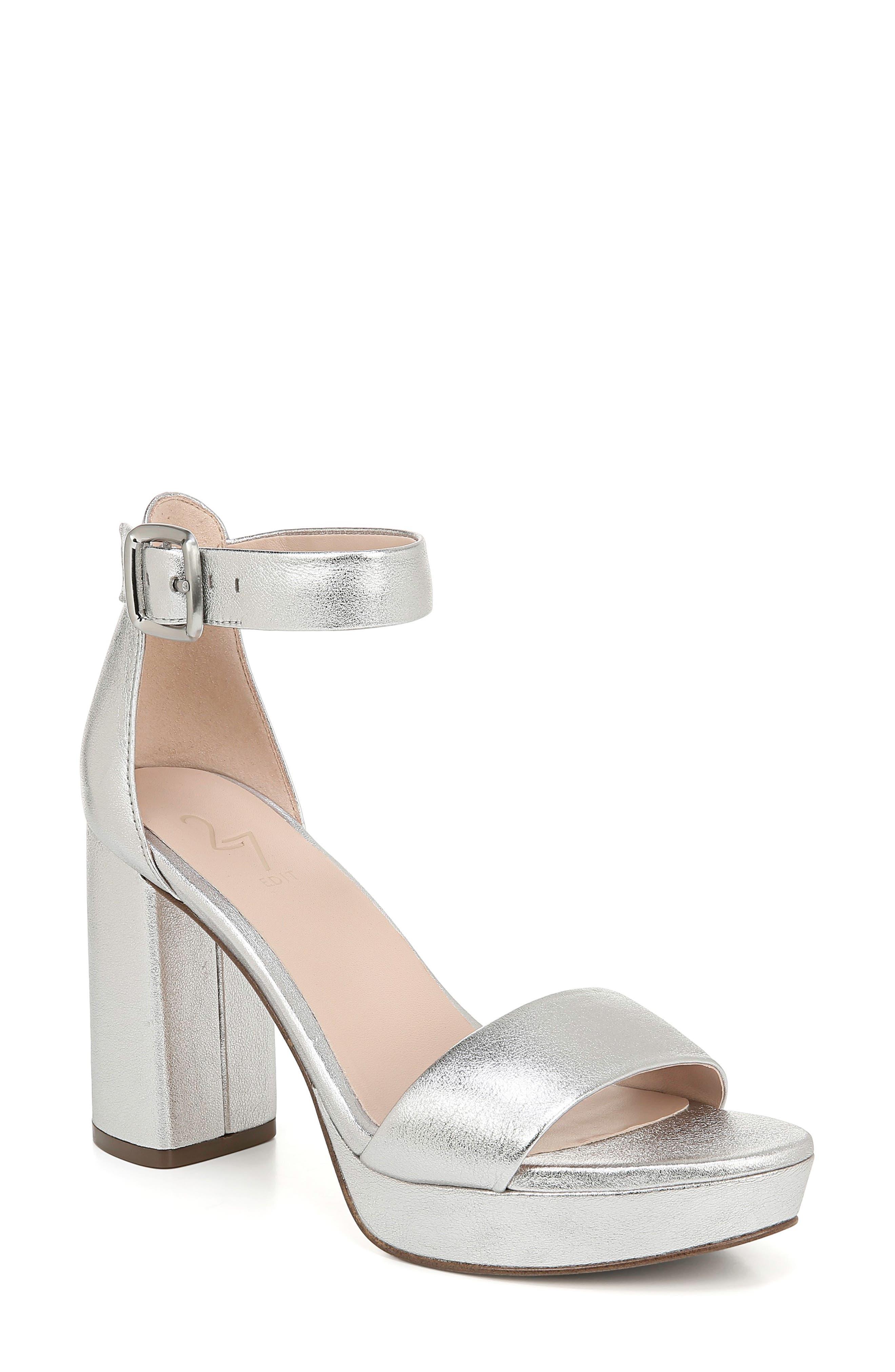 70s Clothes | Hippie Clothes & Outfits Womens 27 Edit Briar Platform Sandal Size 8 W - Metallic $49.99 AT vintagedancer.com