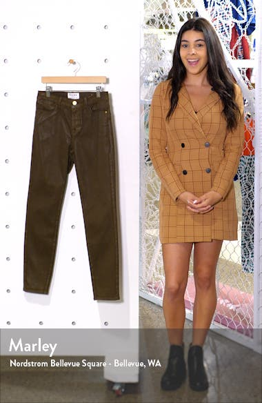 Le High Waist Coated Skinny Jeans, sales video thumbnail