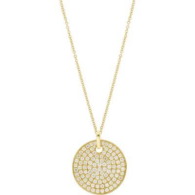 Bony Levy Circular Diamond Medallion Pendant Necklace (Nordstrom Exclusive)
