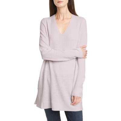 Petite Eileen Fisher Merino Wool Tunic Sweater, Purple
