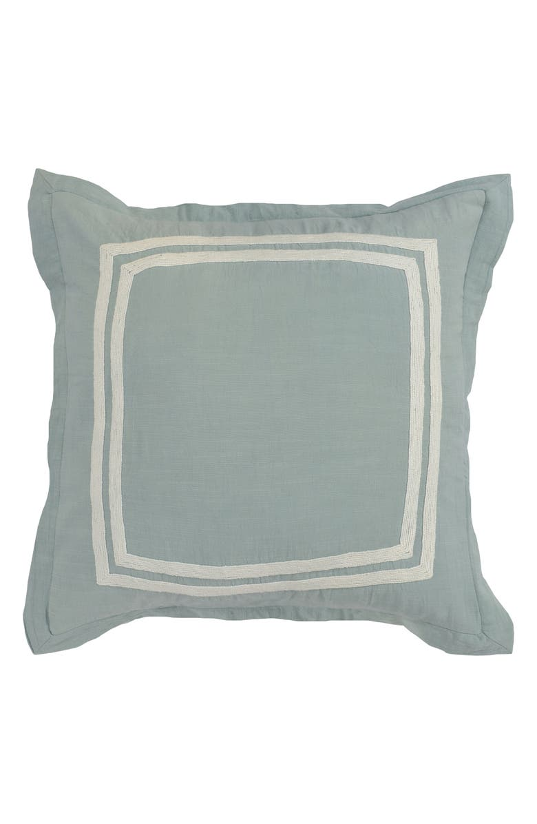 VILLA HOME COLLECTION Patrina Euro Sham, Main, color, BLUE SURF/ IVORY