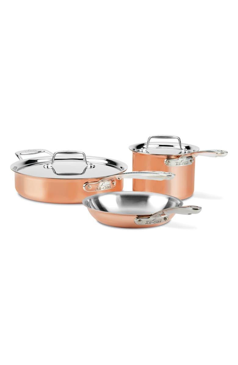 ALL-CLAD c4 Copper 5-Piece Cookware Set, Main, color, 220