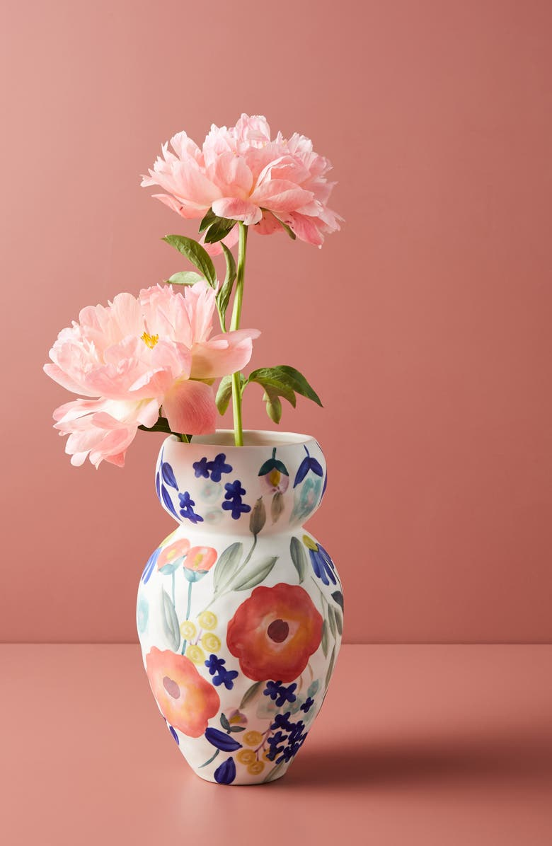 ANTHROPOLOGIE HOME Carmo Large Vase, Main, color, WHITE