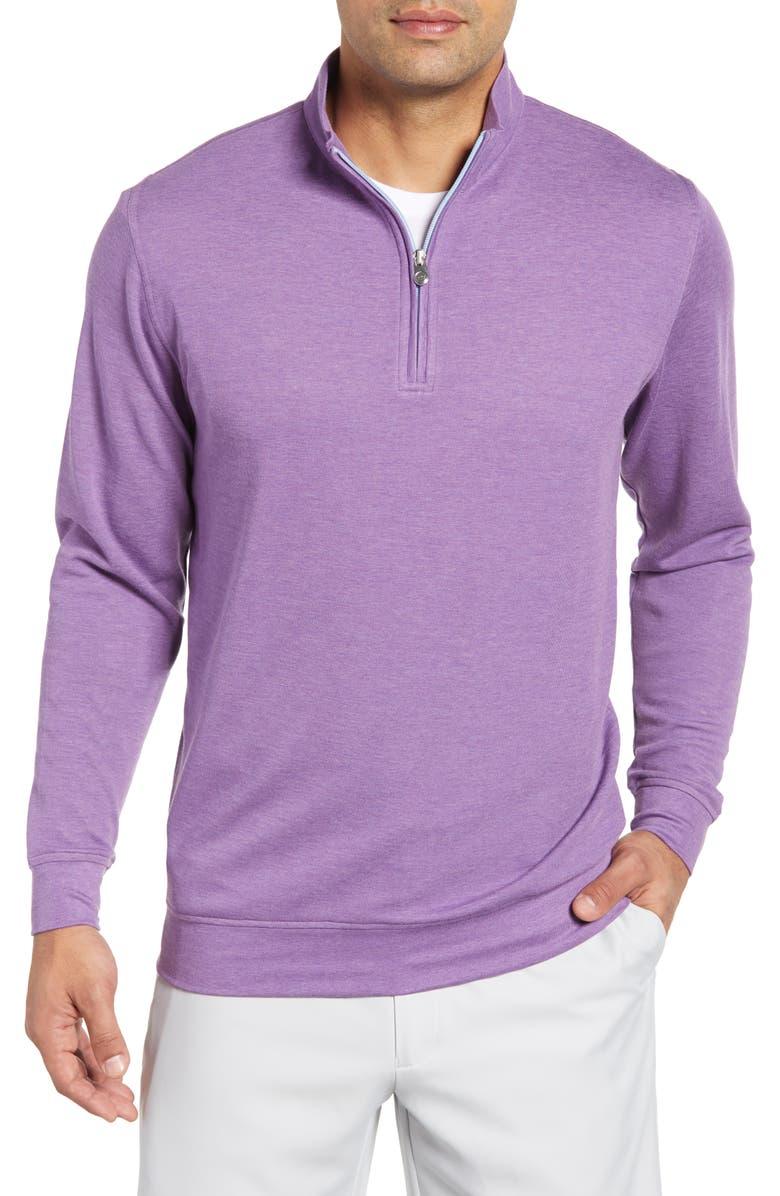 PETER MILLAR Quarter Zip Pullover, Main, color, DAYFLOWER