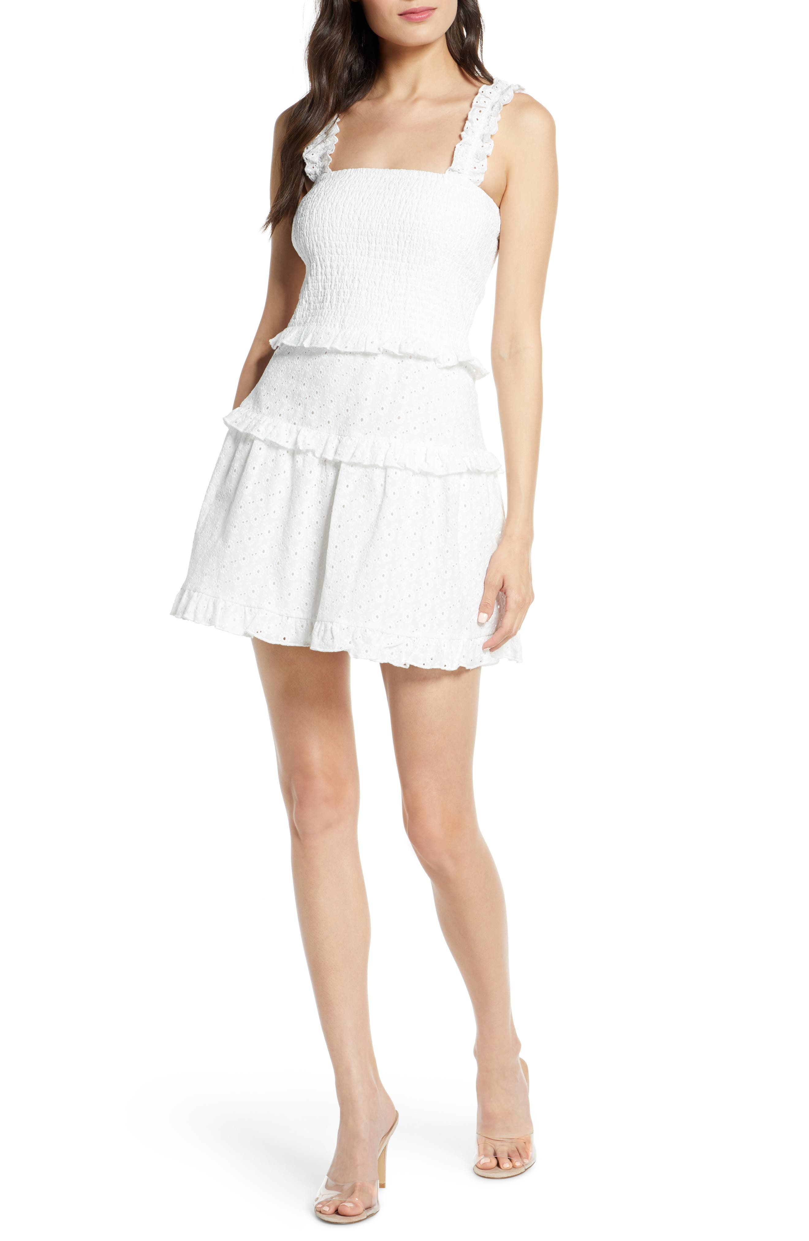 Ali & Jay Treasure Hunting Broderie Anglaise Sundress, White