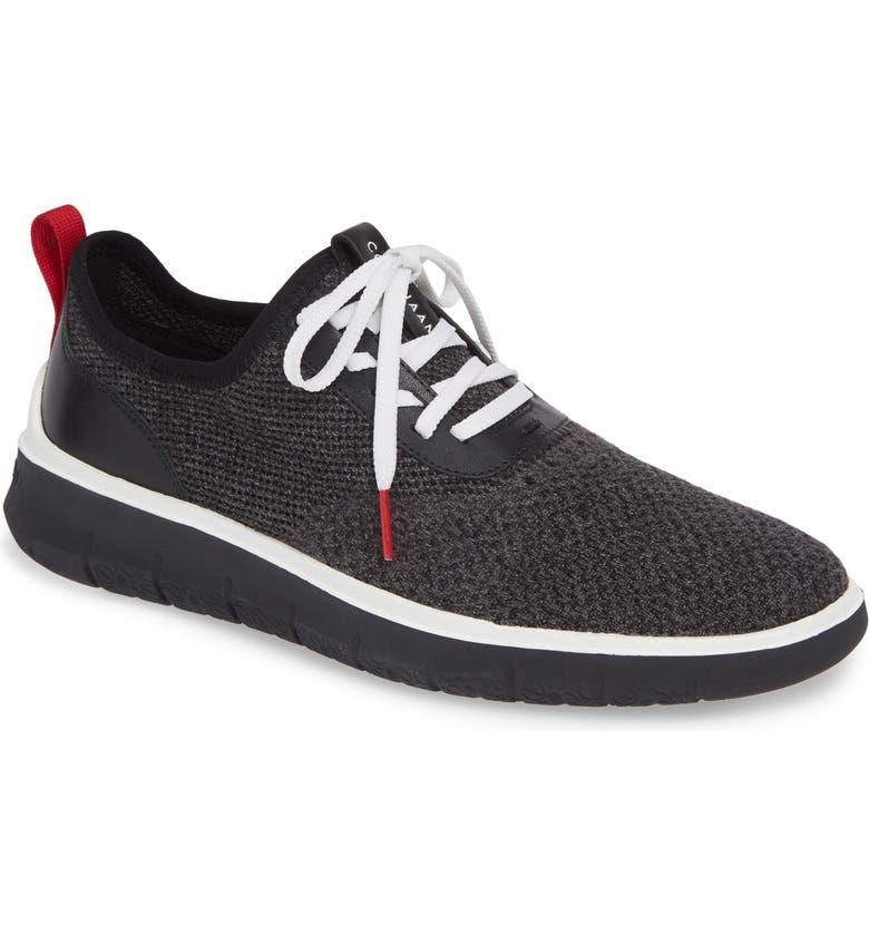 COLE HAAN Generation ZeroGrand Stitchlite Sneaker, Main, color, BLACK/ GRAY/ BARBADOS