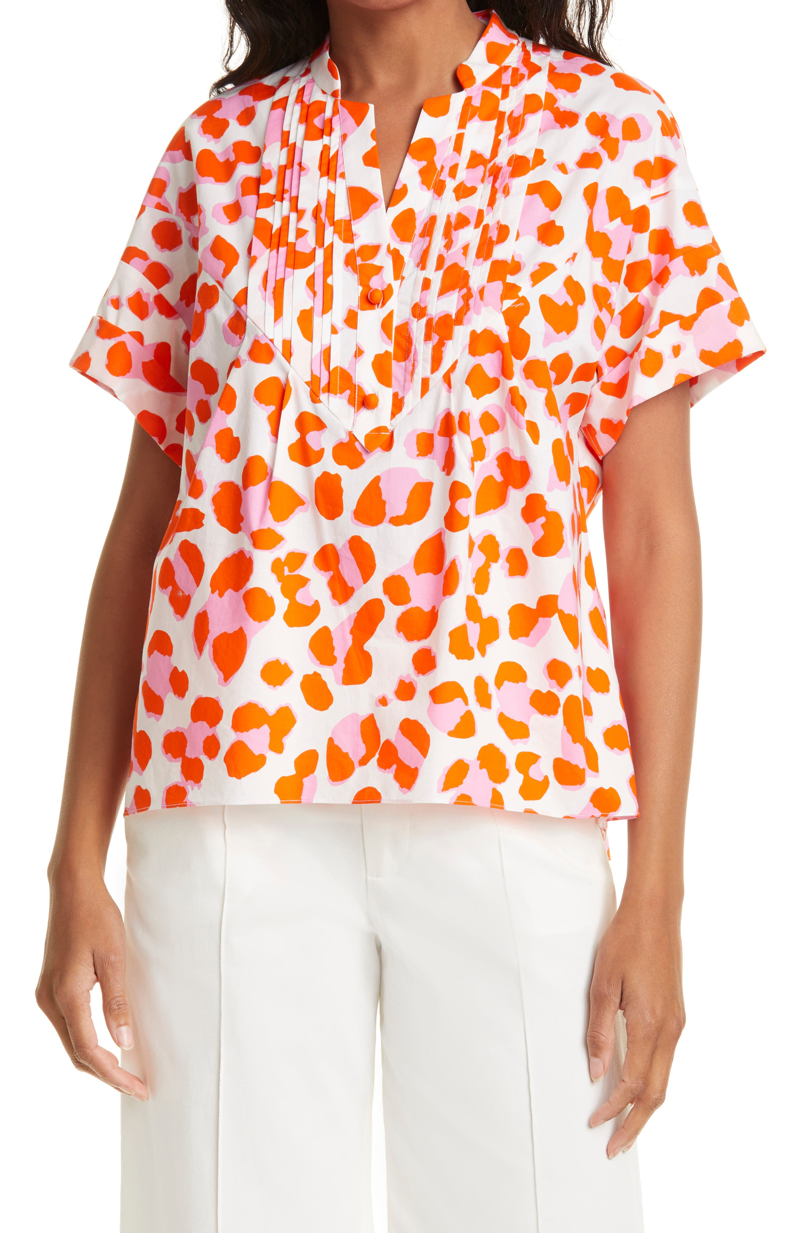 Fiona Leopard Print Cotton Top