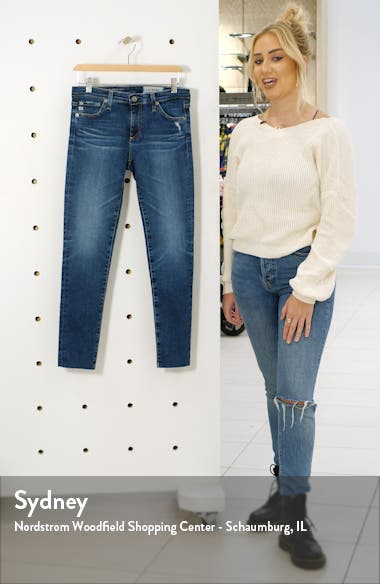 The Legging Raw Hem Ankle Skinny Jeans, sales video thumbnail