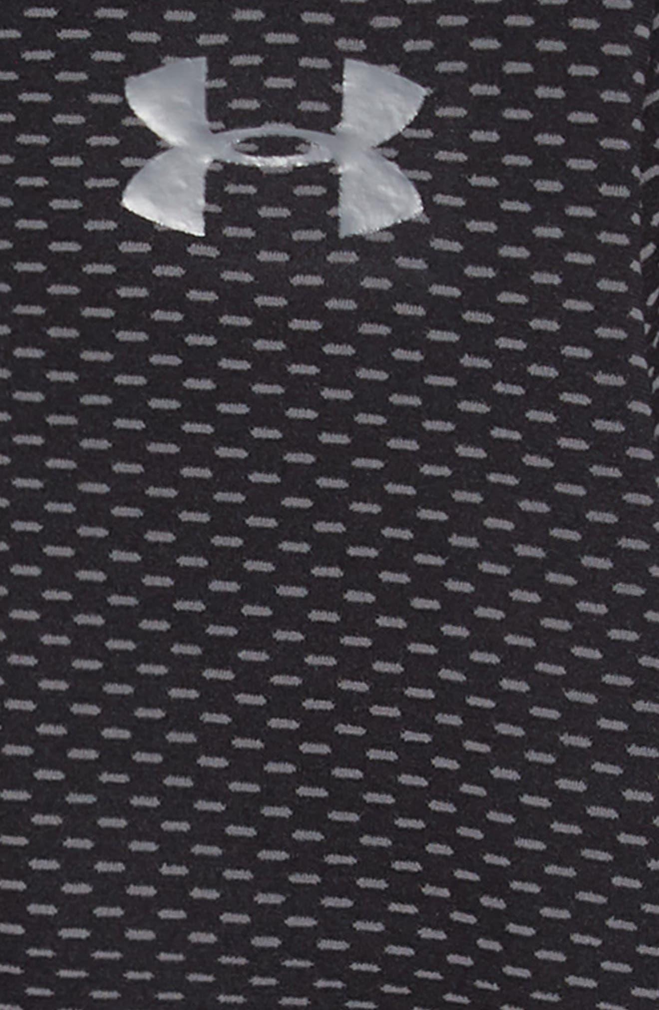 ,                             Seamless HeatGear<sup>®</sup> Quarter Zip Pullover,                             Alternate thumbnail 2, color,                             BLACK/ BLACK