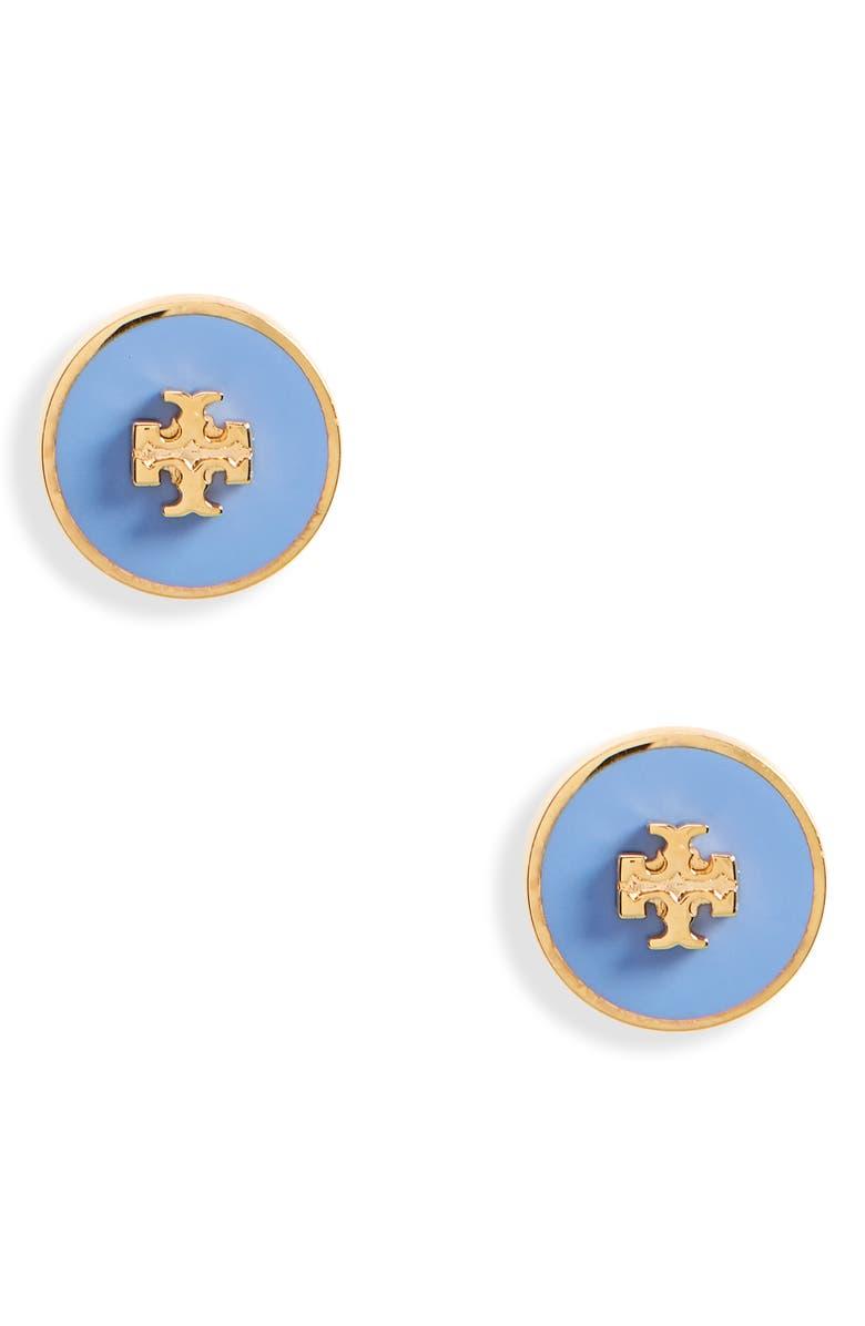 토리버치 귀걸이 Tory Burch Kira Enamel Circle Stud Earrings