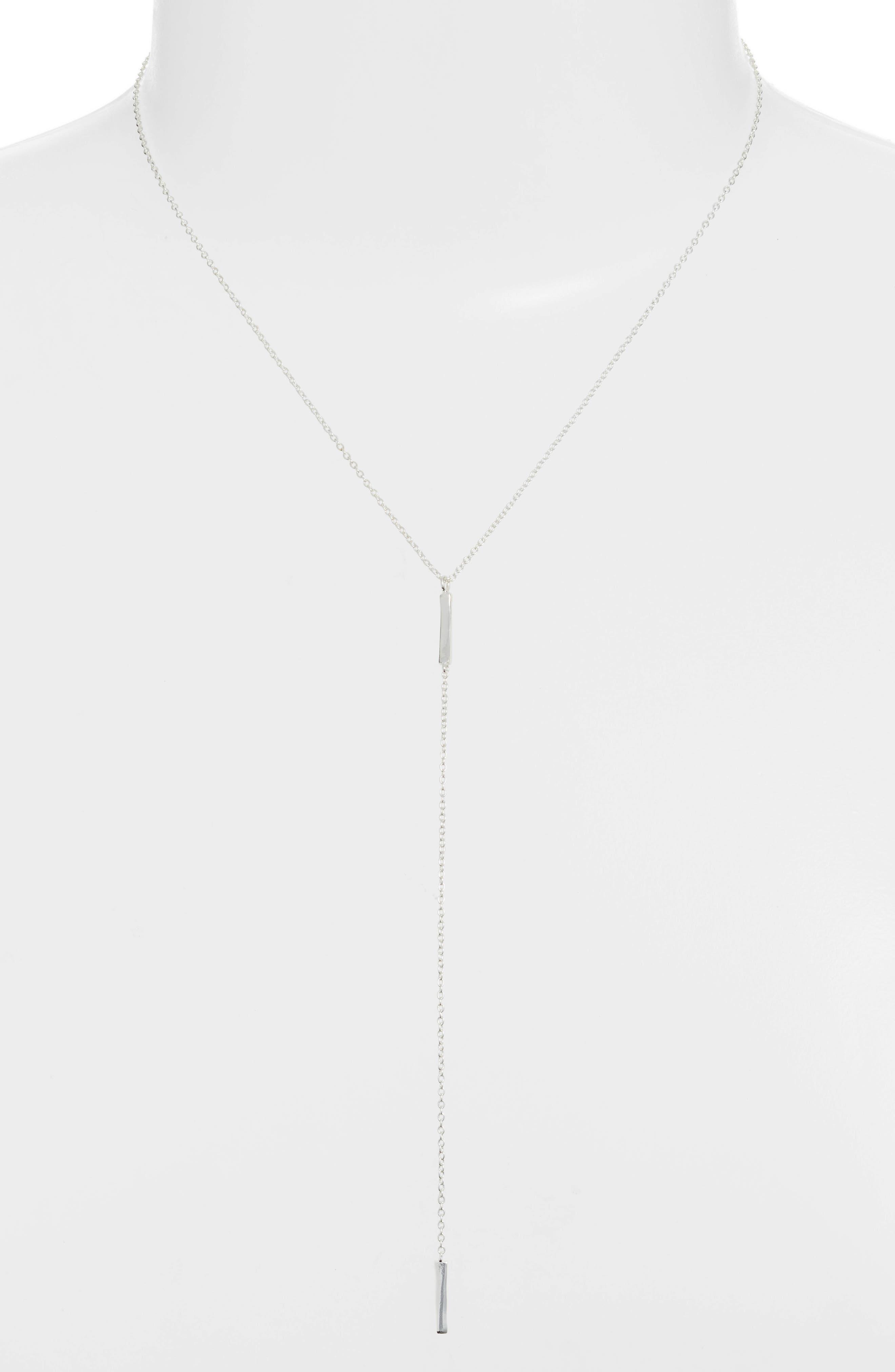 ,                             Taner Bar Short Y-Necklace,                             Alternate thumbnail 2, color,                             SILVER