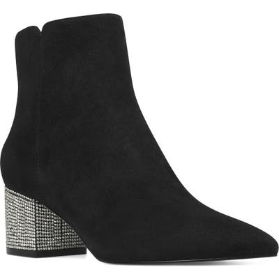 Nine West Richick Crystal Heel Bootie, Black