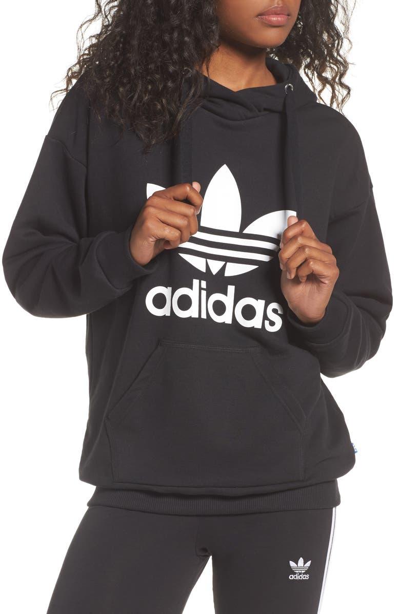 ADIDAS Originals Logo Hoodie, Main, color, 001