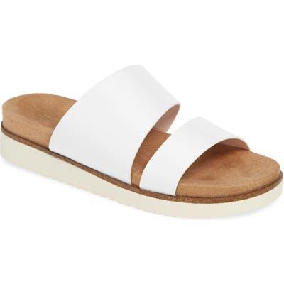 Kensie Danesha Slide Sandal- White