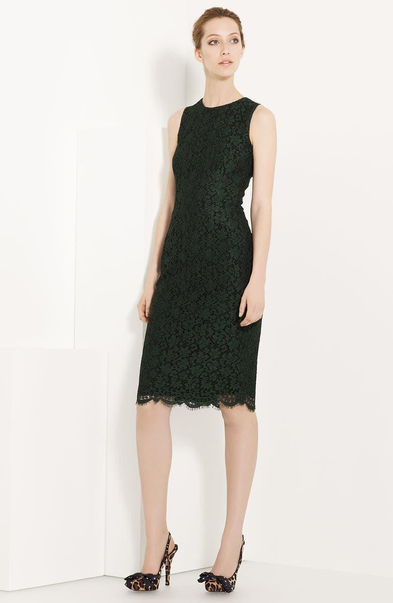 DOLCE&GABBANA Eyelash Lace Dress, Main, color, 300