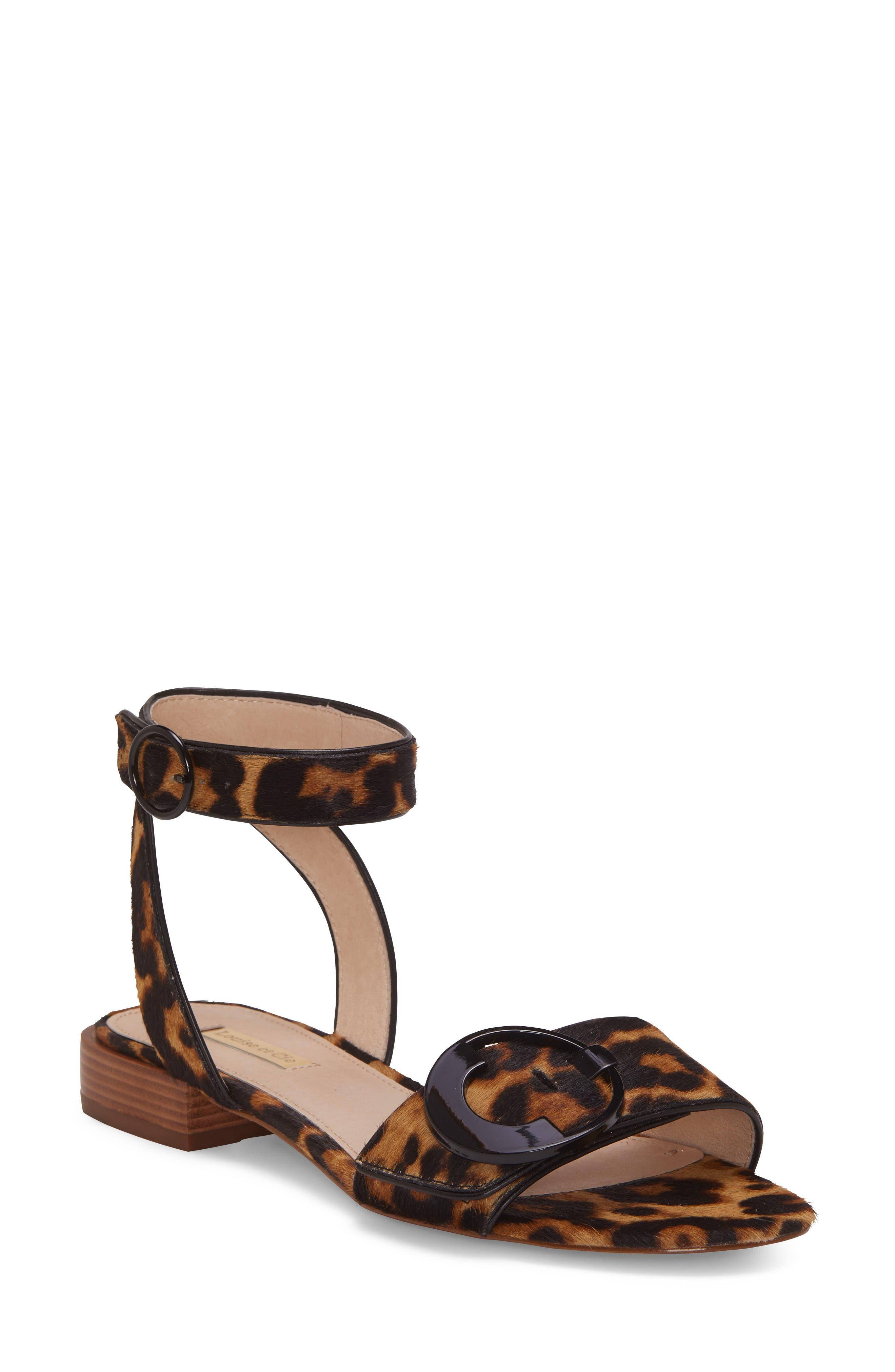 Louise et Cie Austen Genuine Calf Hair Flat Sandal (Women)