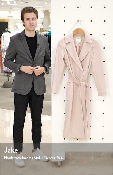 Joseete Wide Lapel Long Wrap Coat, sales video thumbnail