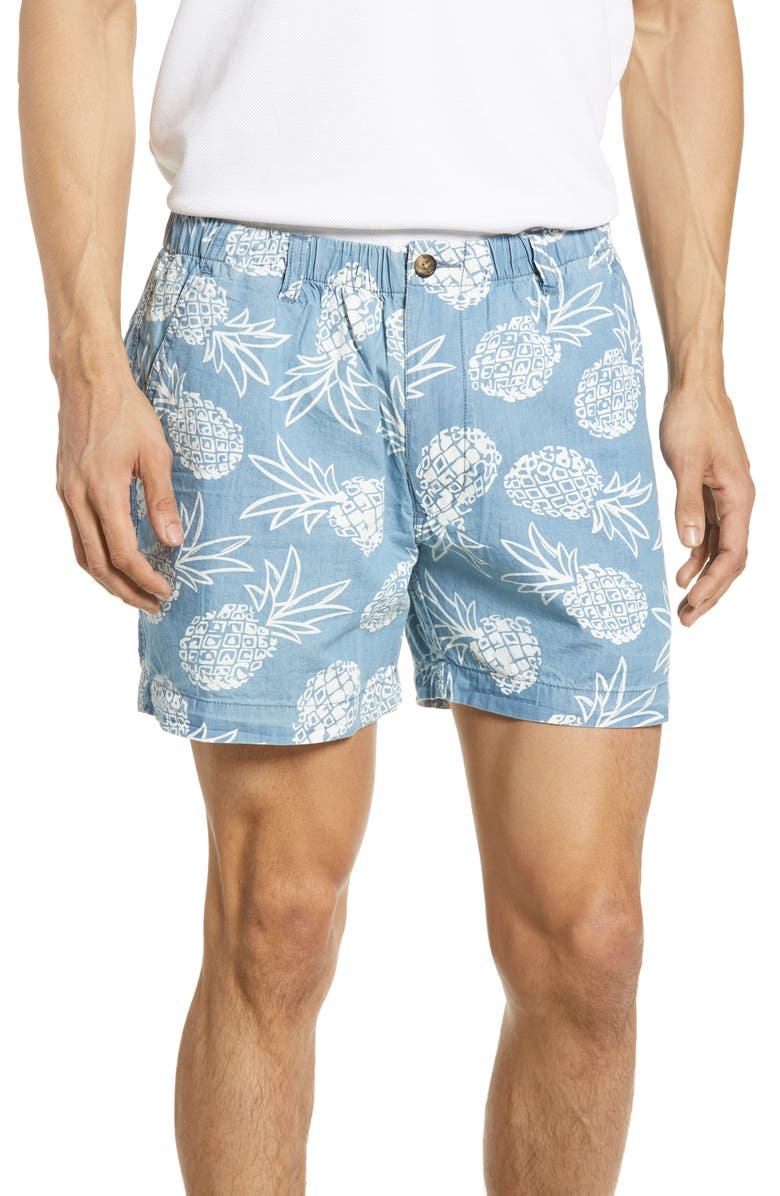 VINTAGE 1946 Snappers Pineapple Print Shorts, Main, color, 400