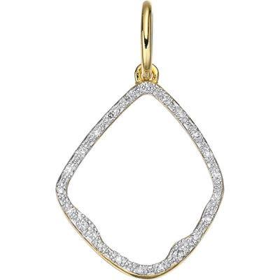Monica Vinader Riva Diamond Hoop Pendant Charm