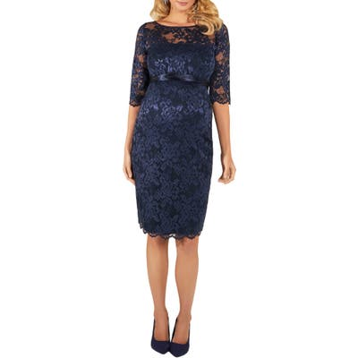 Tiffany Rose Amelia Lace Maternity Cocktail Dress, Blue