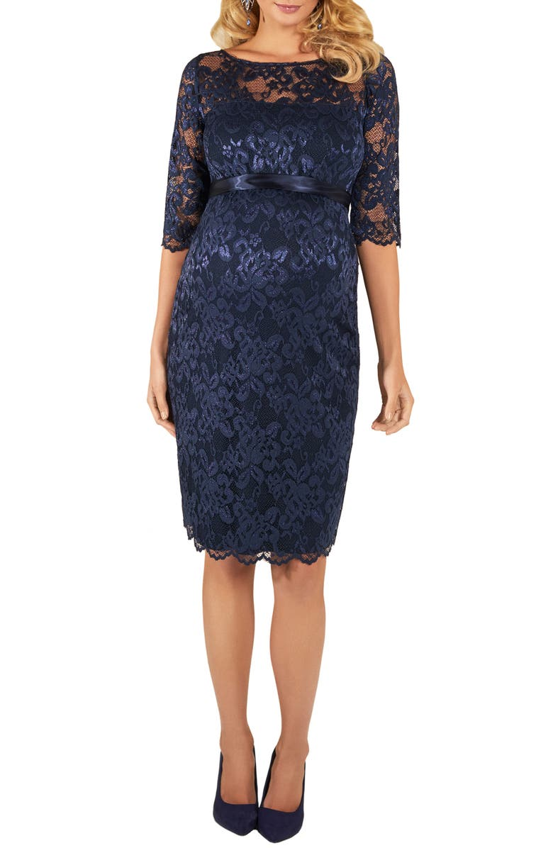 TIFFANY ROSE Amelia Lace Maternity Dress, Main, color, NAVY