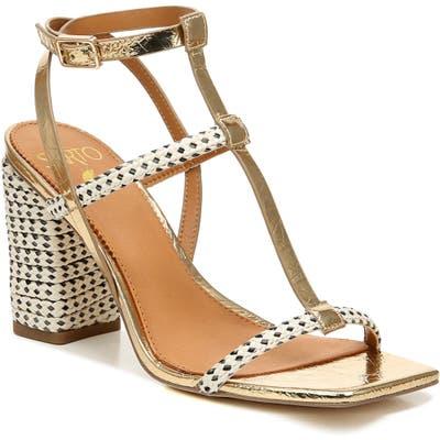 Sarto By Franco Sarto Vix T-Strap Sandal- Beige
