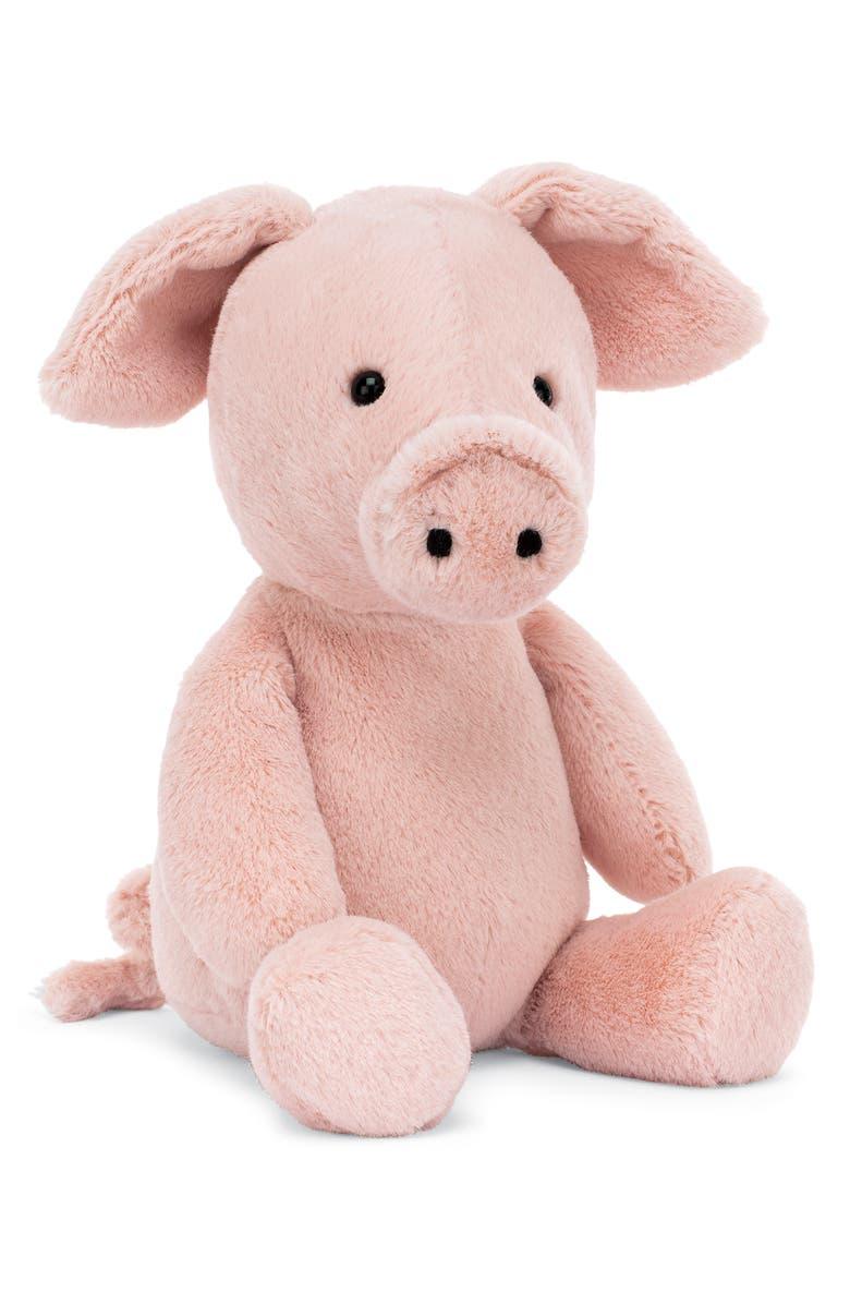 JELLYCAT Nimbus Pig Stuffed Animal, Main, color, PINK