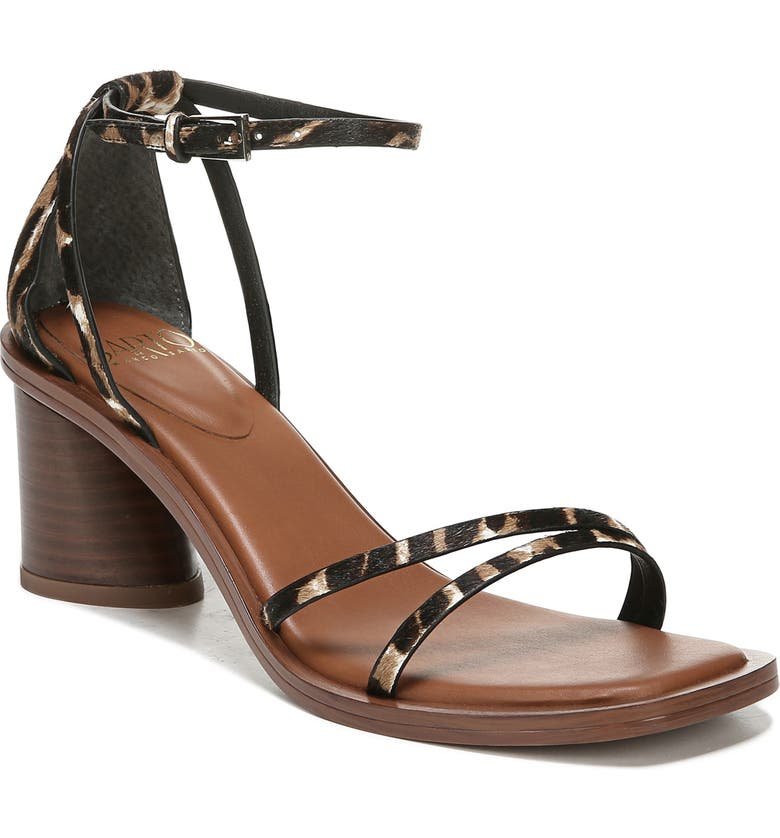 SARTO BY FRANCO SARTO A-Ronelle Ankle Strap Sandal, Main, color, LEOPARD CALF HAIR