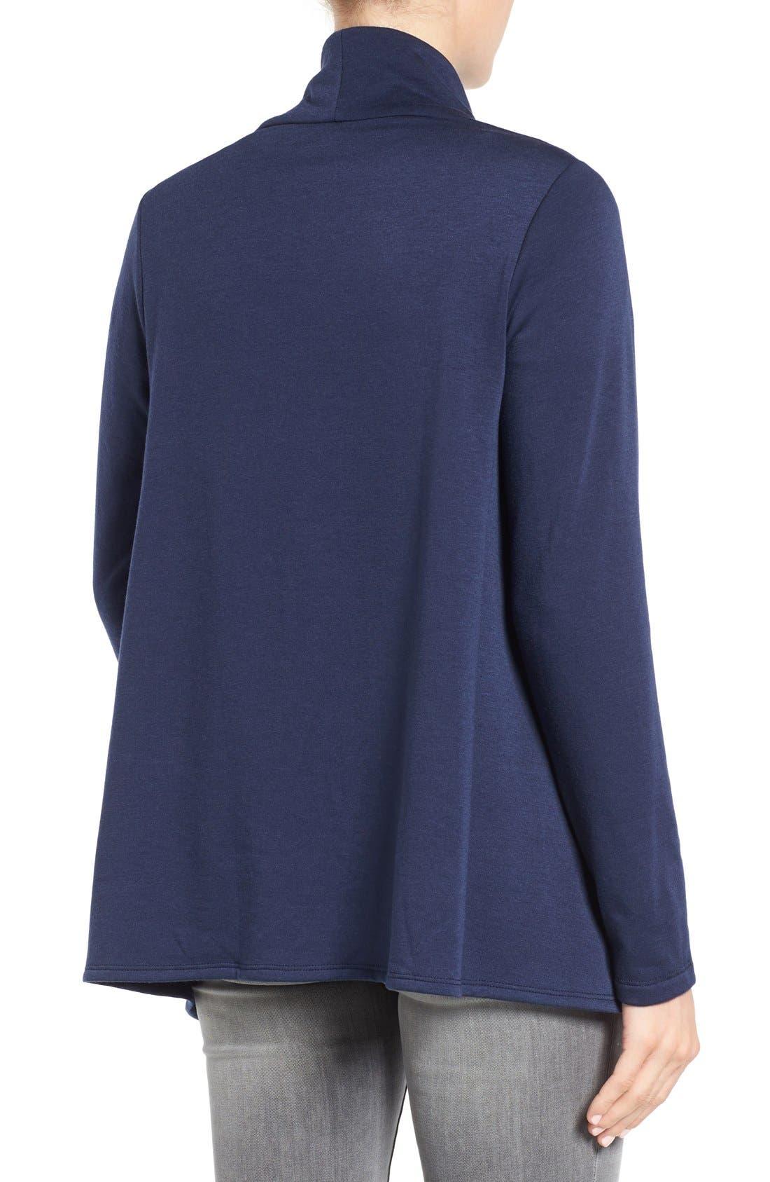 ,                             One-Button Fleece Wrap Cardigan,                             Alternate thumbnail 128, color,                             421