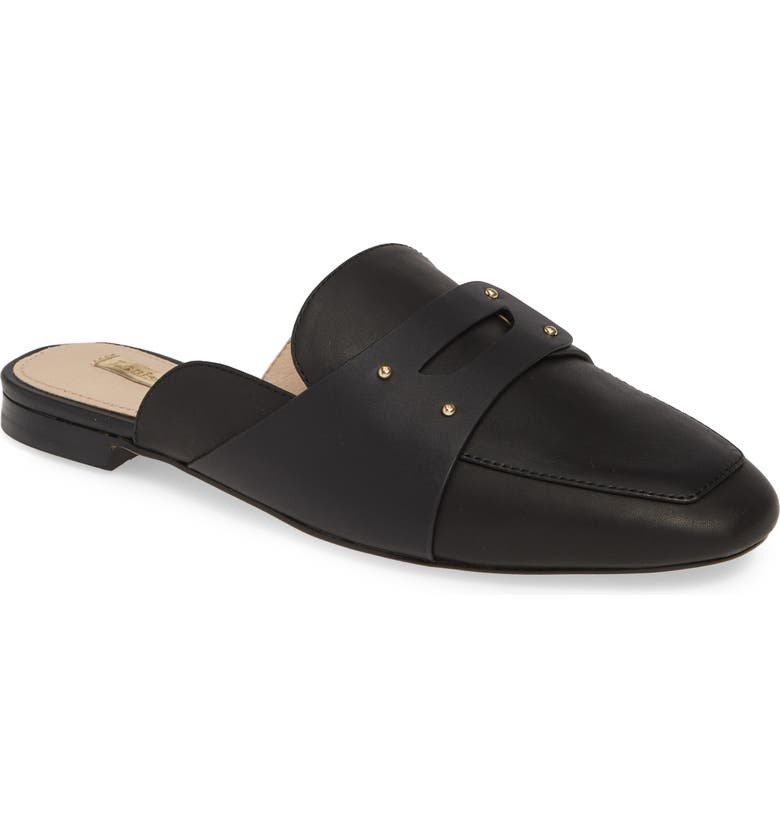 LOUISE ET CIE Charriet Loafer Mule, Main, color, BLACK LEATHER