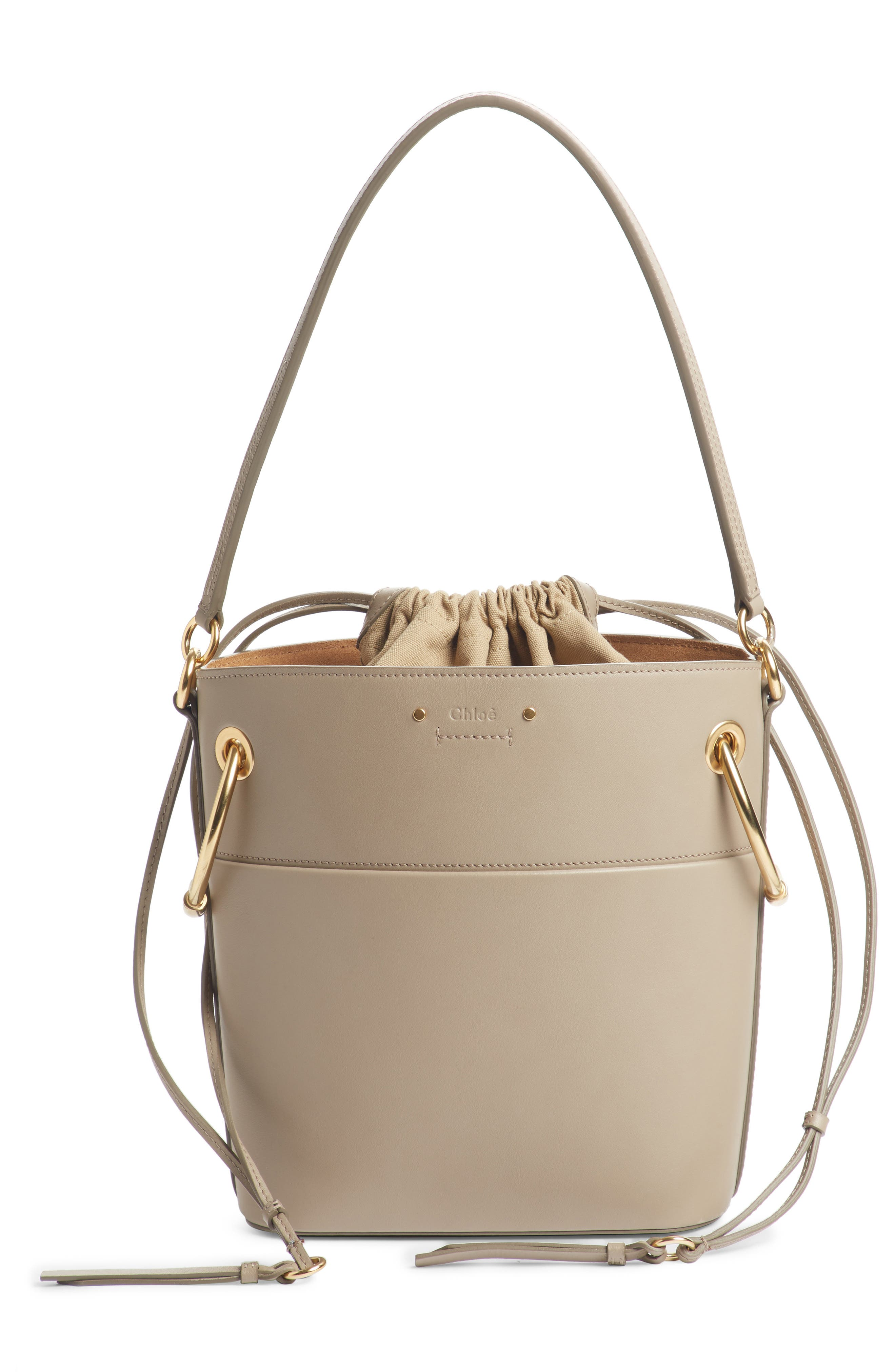 ,                             Roy Small Leather Bucket Bag,                             Alternate thumbnail 11, color,                             020