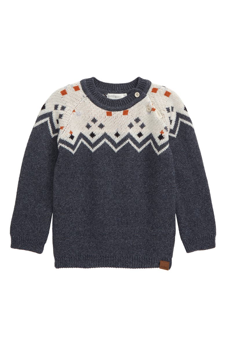 MILES baby Sweater, Main, color, HEATHER BEIGE