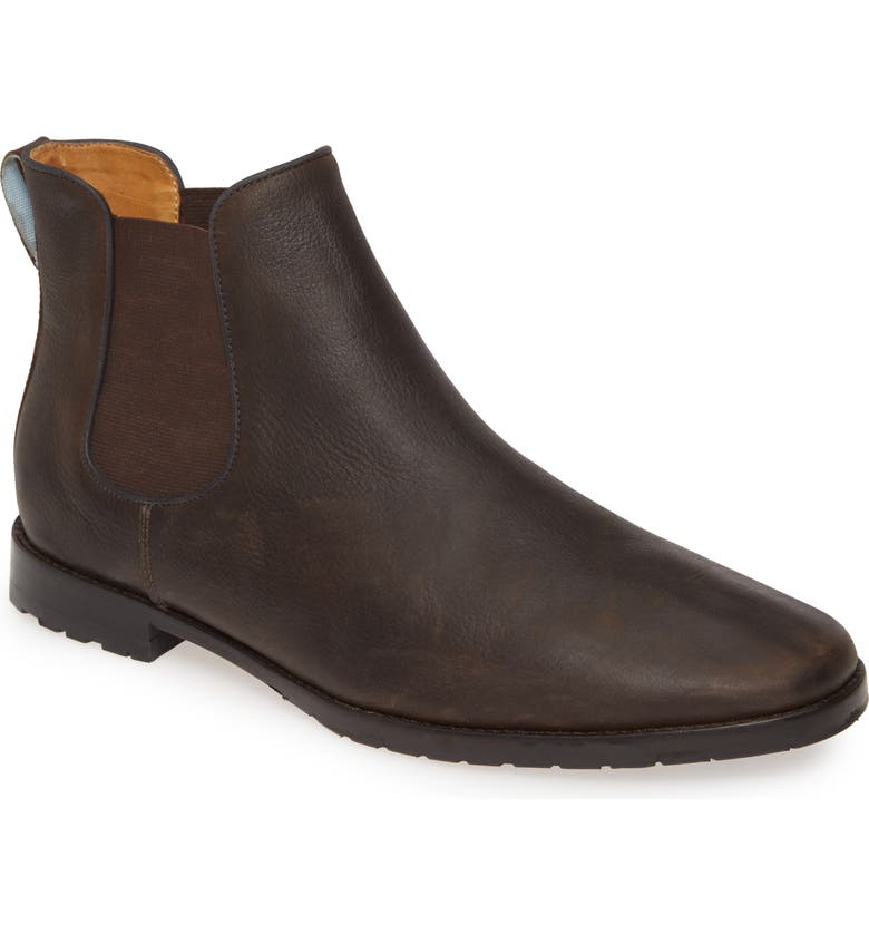 PETER MILLAR Crown Chelsea Boot, Main, color, CHOCOLATE
