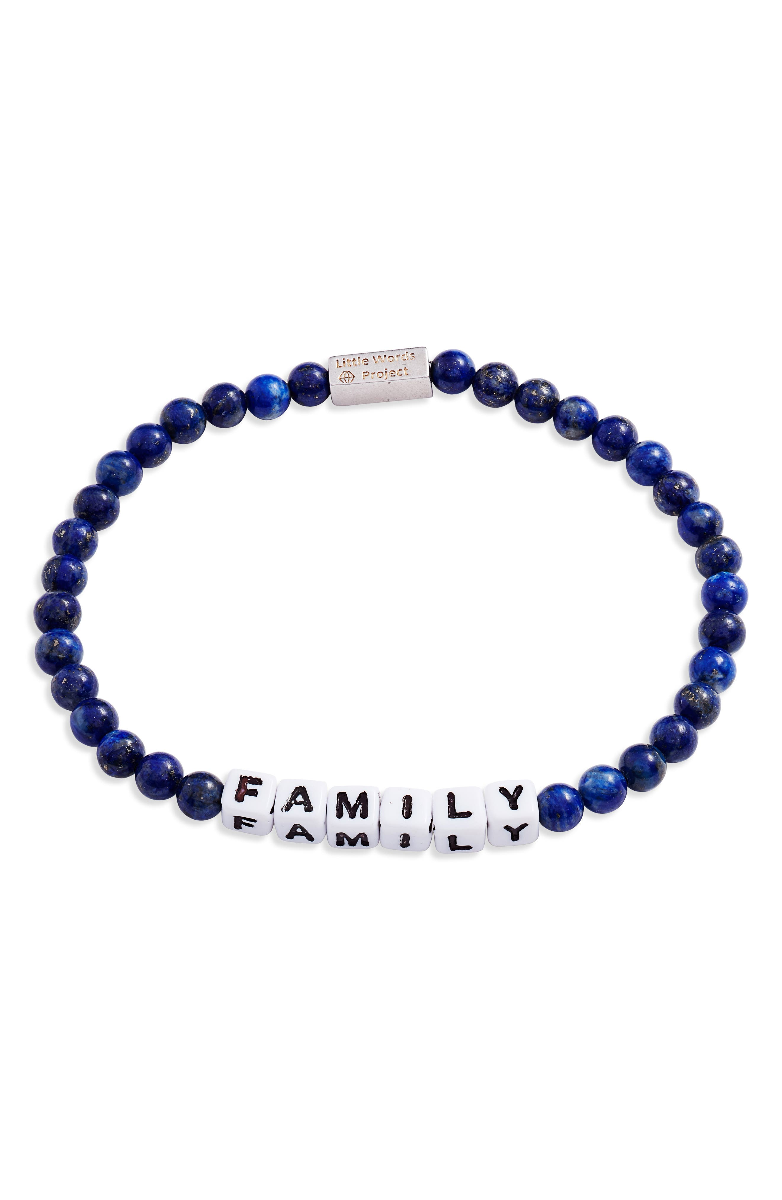 Family Beaded Stretch Bracelet