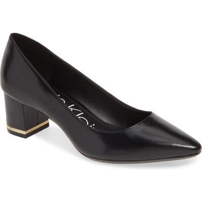 Calvin Klein Nita Pointy Toe Pump, Black