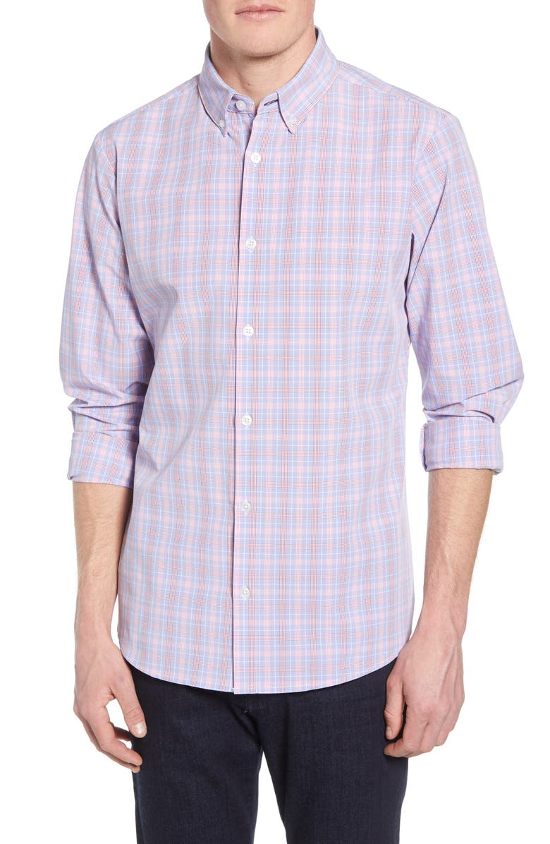 Sherman Plaid Performance Sport Shirt by Mizzen+Main