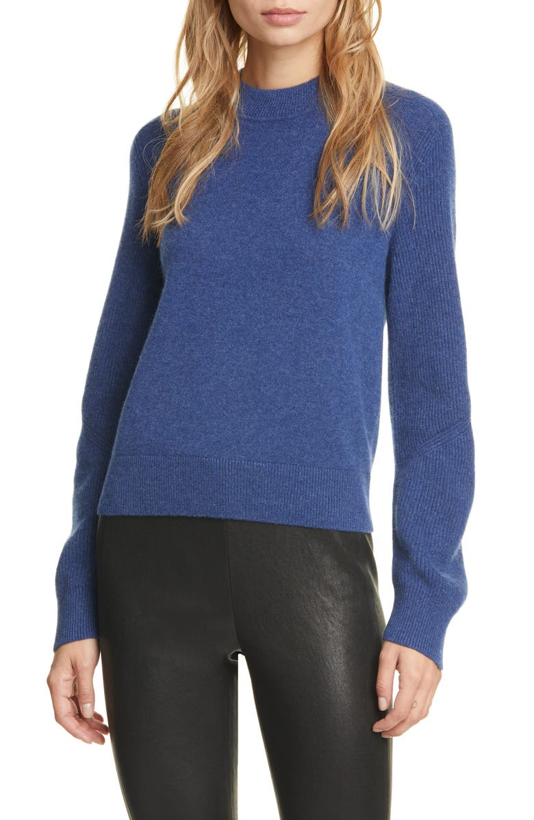 RAG & BONE Logan Cashmere Sweater, Main, color, ROYAL BLUE
