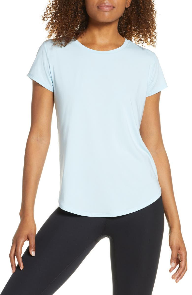 ZELLA Strength Performance Tee, Main, color, BLUE ORYDALIS