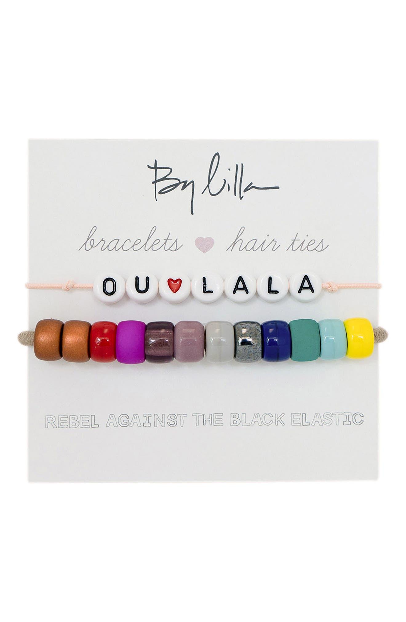 Ou La La Set Of 2 Beaded Stretch Bracelets