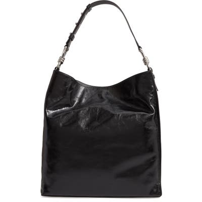 Allsaints Captain Shiny Calfskin Leather Tote - Black (Nordstrom Exclusive)