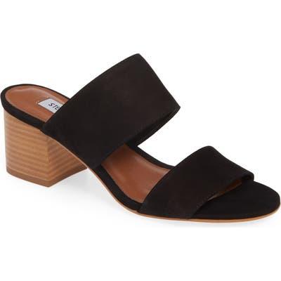 Steve Madden Ilena Block Heel Slide Sandal, Black