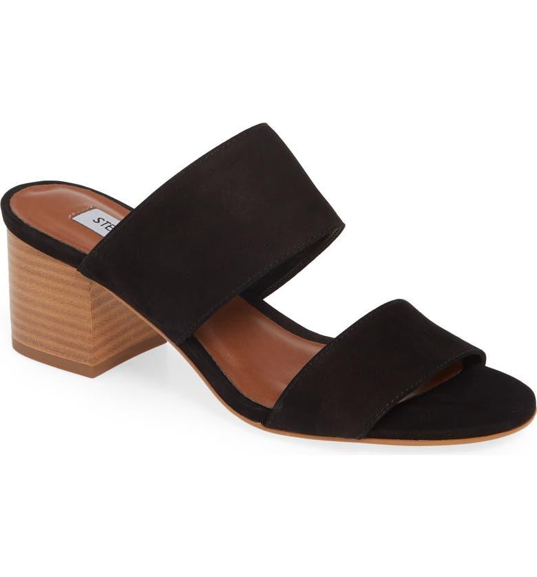 STEVE MADDEN Ilena Block Heel Slide Sandal, Main, color, BLACK