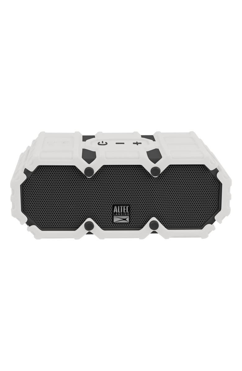 ALTEC LANSING Mini Lifejacket S3 Waterproof Wireless Speaker, Main, color, WHITE/ GRAPHITE